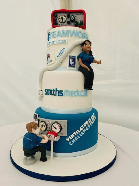 VentilatorChallengeUK - A celebration cake made for the Luton site