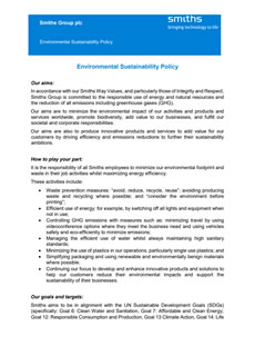 Environmental Sustainability Policy